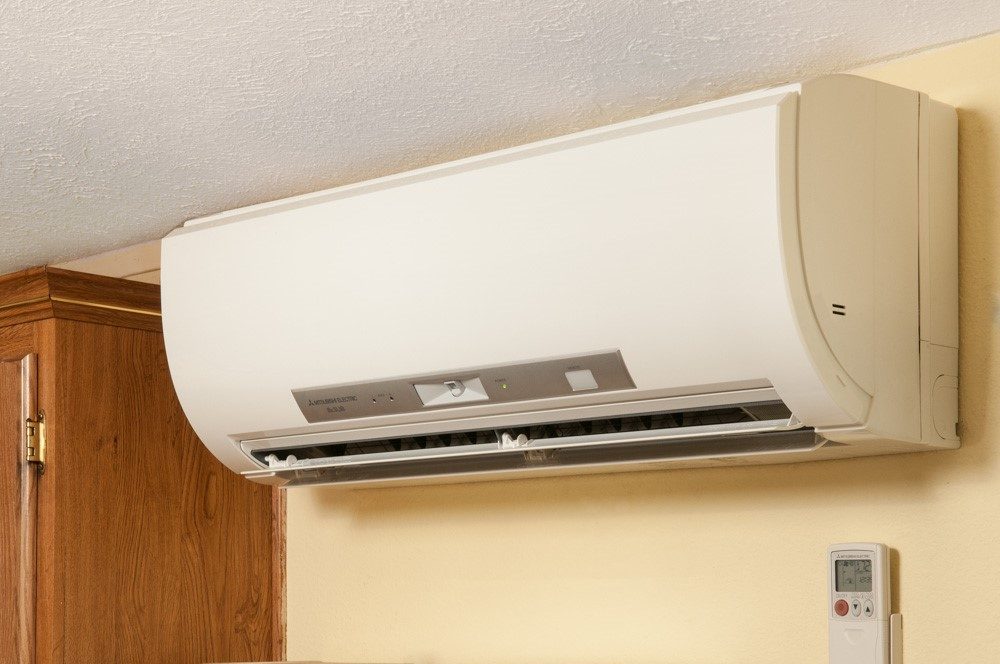 Indoor ductless heat pump