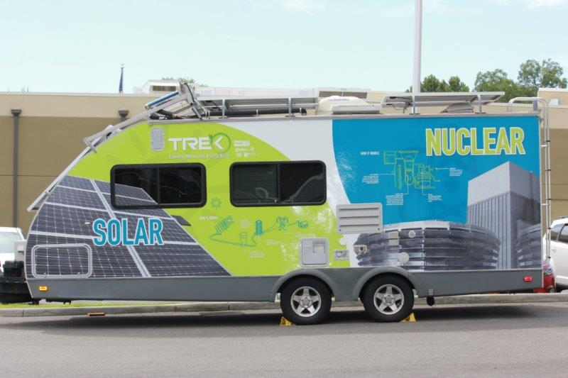 Side showing solar and nuclear energy